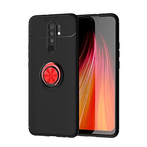 Carcasa de telefono Funda protectora para Xiaomi Redmi 9 Case, para Xiaomi Redmi 9 Prime Case TPU Soft TPU Funda a prueba de golpes 360 grados Rotating Metal Anillo Magnético Kickstand DISIPACIÓN DE C