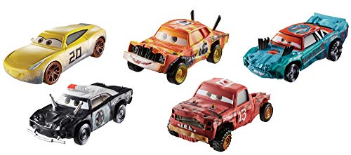 Disney Cars Thunder Hollow Pack de 5 vehículos, coches de juguete (Mattel GDD13)