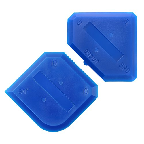 Outus 2 Pieces Caulking Tool Set Silicone Sealant Grout Finishing Tool for Kitchen Bathroom Floor Sealant Sealing, Blue