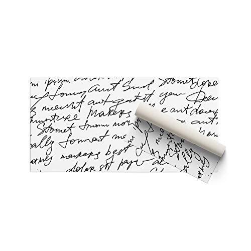 DON LETRA Alfombra Vinílica para Salón, Dormitorio y Cocina - Diseño de Escritura Hermosa, Fondo Blanco - 80 x 40 x 0.2 cm, ALV-012