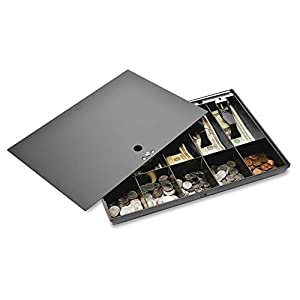 Sparco-Money-Tray-with-Locking-Cover-16-x-11-x-2-14-Inches-Black-SPR15505