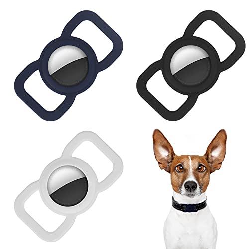 olyee - 3 custodie in silicone per Apple Air Tag con fibbia per collare di cane e gatto, anti-smarrimento, per animali da compagnia