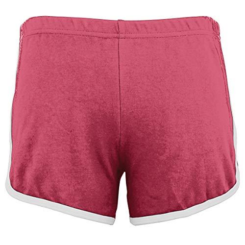 American Apparel Pantalones Cortos de Verano de Verano de Interlock Short Gym - Arándano/Blanco (L)