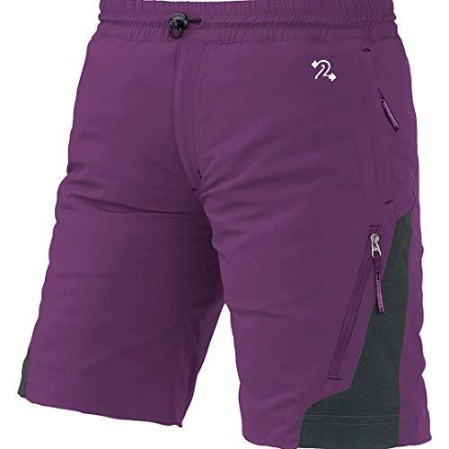 Trango Odiel Fi Pantalones Cortos, Unisex niños, púrpura/marrón (Asfalto), 14/XL