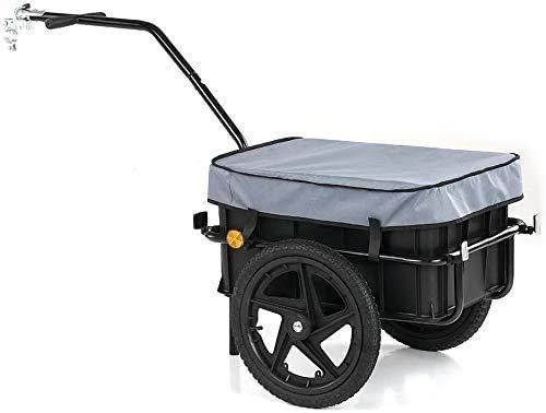 Poussette remorque vélo timon de la remorque de camion avec des boîtes de transport de stockage...