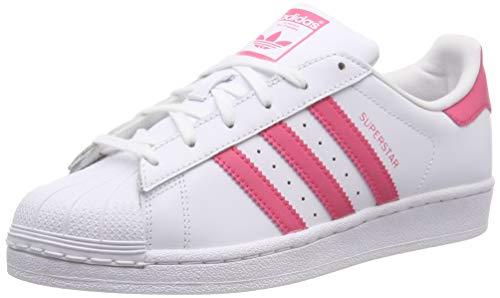 adidas Superstar J, Zapatillas de Gimnasia Unisex Adulto, Blanco (FTWR White/Clear Pink/Clear Pink FTWR White/Clear Pink/Clear Pink), 38 2/3 EU