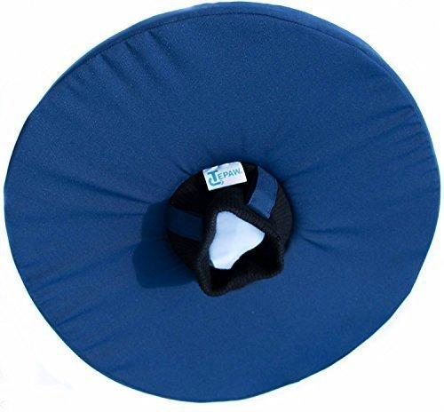 Tepaw Tier-Kragen - Premium-Leckschutz blau (Gr. 4) Halskrause für Dein Haustier - Der patentierte Schutzkragen für kleine Katzen bis zum großen Hund