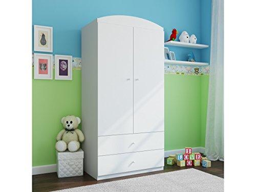 CARELLIA Armoire Enfant 2 TIROIRS DE Rangement - Blanc