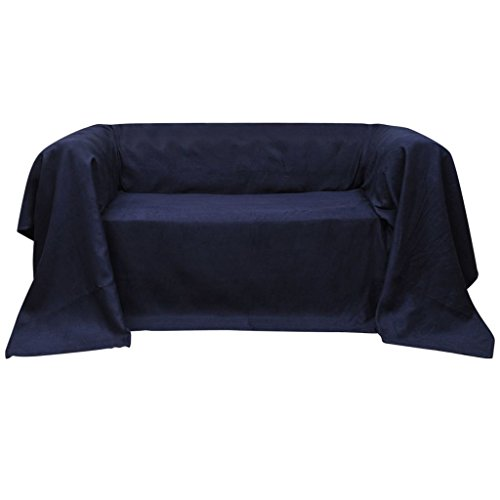 vidaXL Tagesdecke Plaid Sofaüberwurf Sessel Sofadecke Wildlederoptik 140x210cm