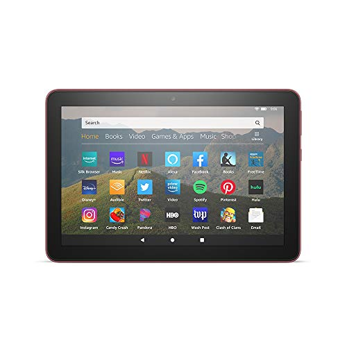 All-new Fire HD 8 tablet, 8' HD display, 32 GB, designed for portable entertainment, Plum