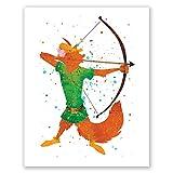 PGbureau Robin Hood Art Poster – Kinder-Wandkunst –