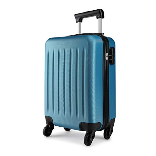 Kono 19 Inch Hard Shell Hand Luggage Suitcases with 4 Spinner Wheels Lightweight Cabin Carry-on Small Travel Trolley Case(19', Navy)