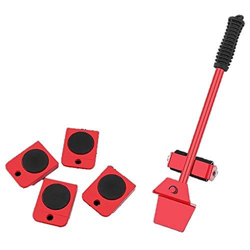 Cx Mover Verlagerung arbeitssparende Gewichte Streuer Möbel for Möbel Kühlschrank Waschmaschine Klavier schwerere Gegenstände, 55x90x360mm (Color : Red)