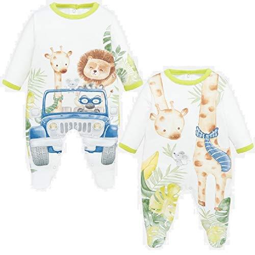 Mayoral Set 2 Pijamas Largos Bebe niño Modelo 1780 (1 Mes)