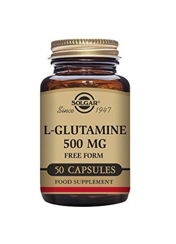 Solgar L-Glutamine 500 mg Vegetable Capsules - Pack of 50
