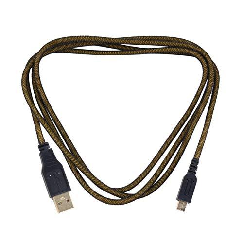 ACEHE Cable de Datos USB, Cable de Datos USB para el Nuevo Cable de Carga del Cargador de energía de sincronización 3DS XL para el Cable de Carga Chapado en Oro 3DS / 3DSXL / 2DS