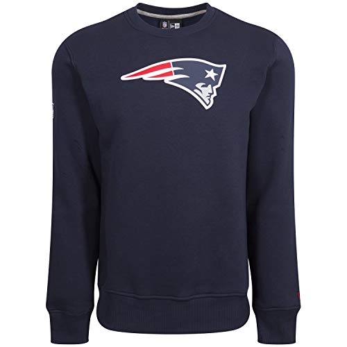 New era New England Patriots Crewneck Team Logo Navy - S