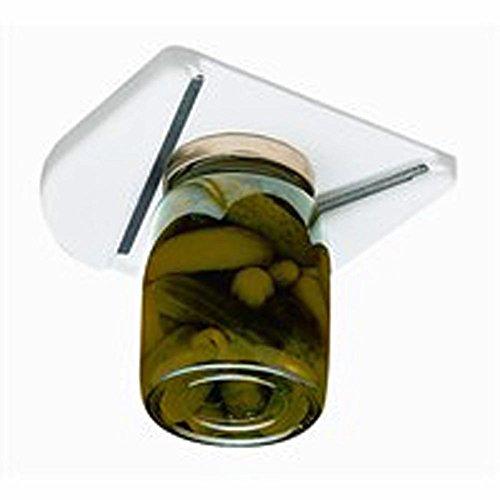 Under Cabinet Jar Opener Vise V Shaped Wedge Kitchen Counter Lid Bottle Cap
