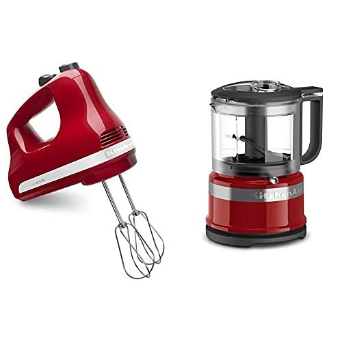 KitchenAid 5-Speed Ultra Power Hand Mixer, Empire Red & KFC3516ER 3.5...