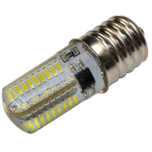 HQRP E17 Base 72 SMD 3014 Silicone Crystal LED Bulb Dimmable 110V Warm White for Microwave / Refrigerator / Kitchen Vent Hood / Range Hood Lights Replacement Plus HQRP Coaster
