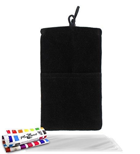 Tasche Blackberry Z10[Cocoon] [schwarz] von MUZZANO + 3Schutzfolien Set