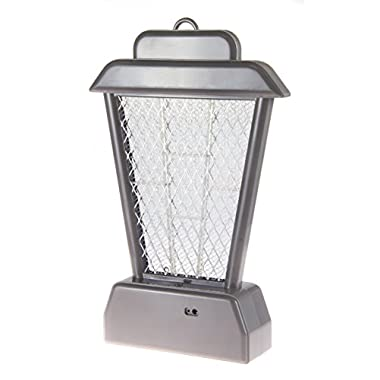 "SE MP-BZR-GR 11-½"" Rechargeable UV Hanging/Standing Bug Zapper, Gray"