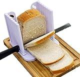EUROXANTY® Tabla para cortar el pan | Tabla con guía para cortar pan de molde y bizchochos