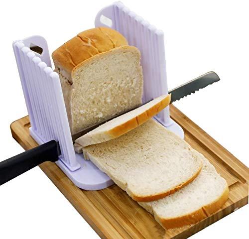 EUROXANTY Tabla para cortar el pan | Tabla con guía para cortar pan de molde y bizchochos