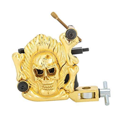 Coil Tattoo Machine, Skull Pattern Tattoo Shader Machine, Beautiful Tattoo Shop for Tattoo Artist Tattoo Lovers Professional Tattoo