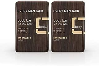 Every Man Jack Body Bar, Sandalwood - Twin Pack