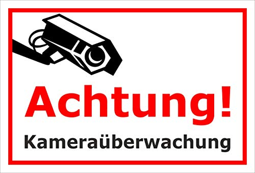 Melis Folienwerkstatt sticker schild - camera-bewaking - S00348-124-B