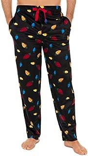 Image of Black Holiday Lights Christmas Pajama Pants for Men - See More Christmas Designs