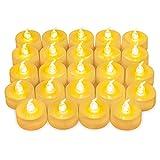 ORIA 24er LED Teelicht, Warmweiß Flackernde Flammenlose Kerzen, Batteriebetriebene Kerzen,...
