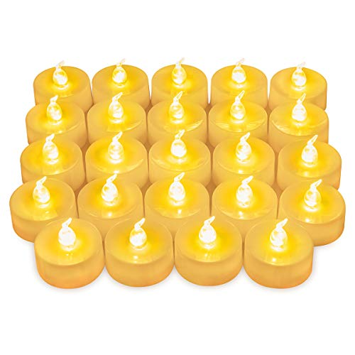 ORIA 24er LED Teelicht, Warmweiß Flackernde Flammenlose Kerzen, Batteriebetriebene Kerzen, Realistische und Leuchtende Elektrische Kunstkerze für Party, Weihnachten, Hochzeit, Wohnkultur, Geschenk