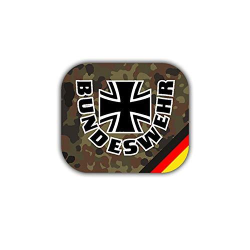 Copytex Sticker autocollant Bundeswehr blason insigne Allemagne militaire camouflage #A1855, 7 x 6 cm