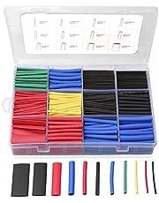 Eventronic ET1001 Heat Shrink Tubing Elektrische Isolatie Heat Shrink Wrap Cable Sleeve 5 Kleuren 12 maten, 560 stuks