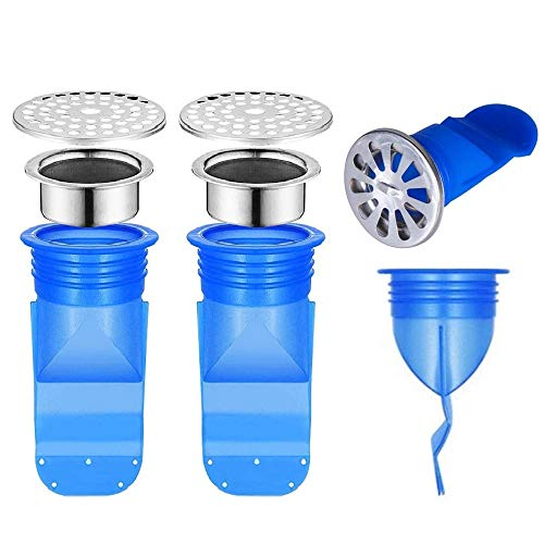 OHOH 2 Pack Drain Backflow Preventer, Silicone Drain Backflow Preventer Sink Floor Drain Seal, One Way Valve for Pipes Tubes in Toilet Bathroom Floor Drain Seal Keep Out Smell