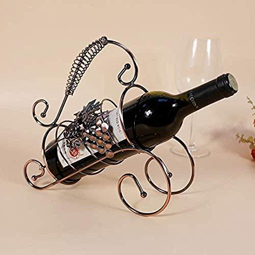 CAIJINJIN estante del vino Forjado del vino del hierro soporte de exhibición estante de la decoración de la botella de vino de la joyería de almacenamiento mueble bar de vinos retro almacenamiento en