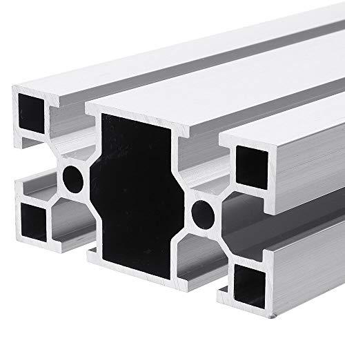 Extrusiones de aluminio, Muebles de madera DIY Máquina de bricolaje 300-1000mm 4080 T Extrusiones de aluminio de ranura 40x80x2mm Perfiles de aluminio Marco de extrusiones El perfil de aluminio de alt