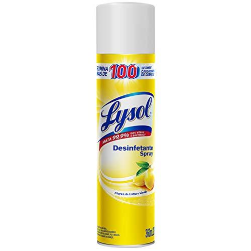 Desinfetante Spray Lysol - Flores de Lima Limão 295G