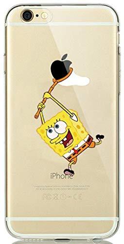 ALL4TOUCH Cover iPhone 6 6S Plus S Principesse Favole (iPhone 5 / 5S / SE, Spongebob)