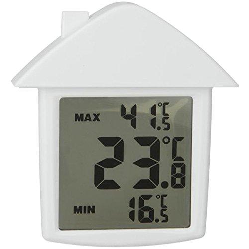Metaltex Fensterthermometer Digital, weiß, 10 x 9 x 2 cm, 298023014