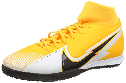 Nike Unisex Superfly 7 Academy IC Football Shoe, Laser Orange/Black-White-Laser Orange, 40 EU