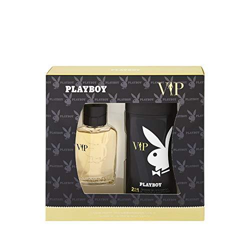 Corine de Farme - Coffret Playboy VIP - Coffret Cadeau pour Homme - Eau de Toilette 60 ml et Gel Douche 250 ml - Parfum Oriental et Sensuel