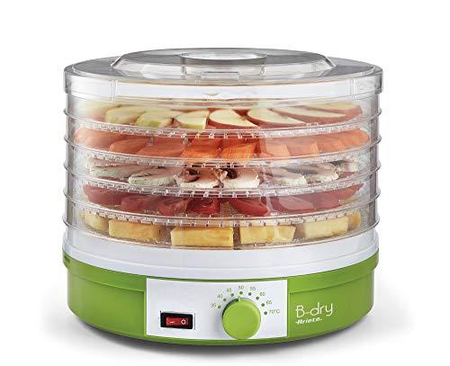 Ariete 616 B-DRY Essiccatore e disidratatore alimentare per frutta e verdura, 5 Cestelli Removibili, Temperatura da 35°C a 70°C, 245 W, Plastica, Verde