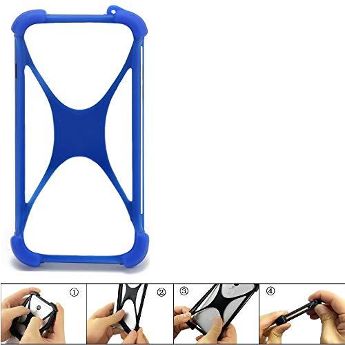 K-S-Trade Handyhülle Kompatibel Mit HTC U11 Dual-SIM Silikon Schutz Hülle Cover Hülle Bumper Silikoncase TPU Softcase Schutzhülle Smartphone Stoßschutz, Blau (1x)