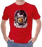 shirtdepartment - Herren Sport Fan-Outfit - Football Eagle - T-Shirt und Hoodie rot-T-Shirt 5XL