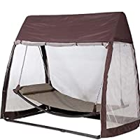 Abba Patio Outdoor Canopy Swing Hammock Bed with Mosquito Net