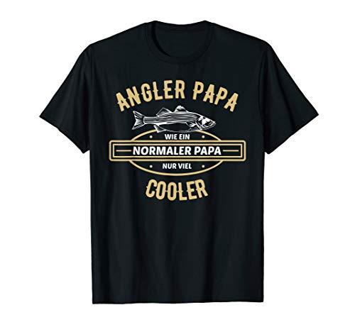 Herren Angler Papa Vatertag Geschenk | Vater Angel Fischer Spruch T-Shirt