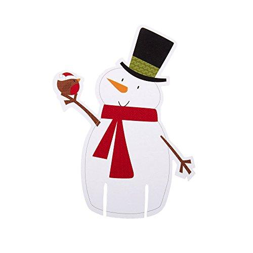 Let It Snow Snowman Glass Decorations
